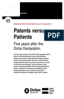 Patents Versus Patients: Five years after the Doha Declaration