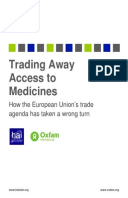 Trading Away Access to Medicines: How the European Union's trade agenda has taken a wrong turn