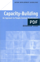 Capacity-Building: An approach to people-centred development
