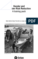 Gender and Disaster Risk Reduction: A training pack