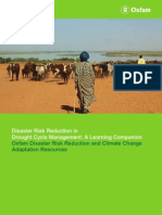 Disaster Risk Reduction in Drought Cycle Management