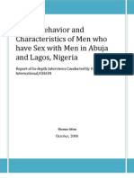 Sexual Behavior of Men Who Have Sex With Men