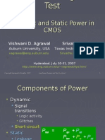 Static and Dynamic Power in CMOS