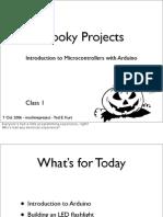 Arduino Spooky Projects Class1