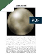 Adiós Plutón