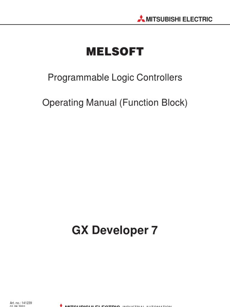 GX Developer 7 (Function Block) Manuals | Programmable Logic