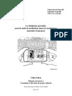 """""""Le téléphone portable, nouvel outil de médiation culturelle dans les institutions muséales françaises"""""""