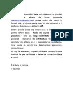 Materiale Necesare Pentru Referatul de Verificare - De La Proiectanti