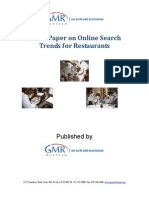 White Paper on Online Search   Trends for Restaurants