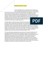 Role of World Bank in International Business Scenario