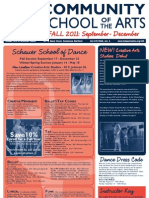 Fall Session 2011 Community School of the Arts Brochure