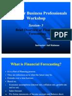 Finance for Business Workshop (Session-5)