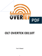 Manual OLT OverTek E8110T
