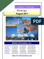 Energy Market Report Catalogue August 2011