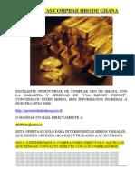 Comprar Oro Barato de Ghana