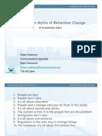 2010 SWANA Day Top Ten Myths of Behaviour Change