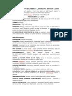 INTERPRETACIÓN DEL TEST DE LA PERSONA BAJO LA LLUVIA