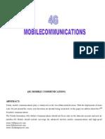 4g Mobile Communication