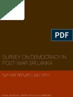 Democracy in Post-War Sri Lanka - Top Line Report