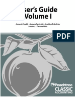 Peachtree Classic User's Guide Volume1