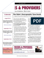 Payers & Providers California Edition  – Issue of August 18, 2011