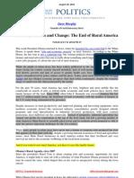 Politics, Farmers and Change