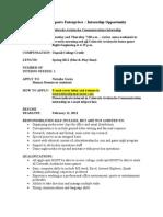 Avalanche Communications Internship