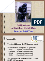 20 Questions-A Diabolical CMMI Quiz