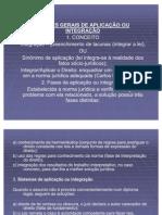 Aplicação ou integração do direito (analogia e equidade) HERMENÊUTICA