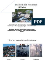 Contaminación por Residuos Sólidos