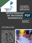 Investigación de métodos numéricos