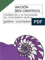 Bachelard La Formacion Del Espiritu Cientifico
