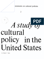 A Study of Cultural Policy in the United States