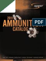 Speer Ammo Catalog 2011