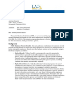 California Legislative Analyst's Office Pension Memo (June, 2011)