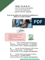 Afiche Conjunto Capacitacion Quimica Conectar Igualdad