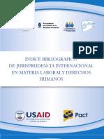 Indice Bibliografico de Jurisprudencia Internacional en Materia Laboral y Derechos Humanos