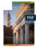 Salem College Undergraduate Catalog 2011-2012