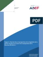 AMF rapport état lieux transcription dir OPCVM IV(3)