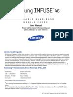 ATT SGH-i997 Infuse 4G English User Manual
