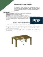 Pendulum Lab - Basic Version