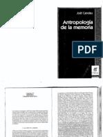 Joel Candau - Antropologia de La Memoria