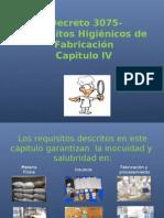 Diapositivas  IV  Requisitos higiénicos de manipulación