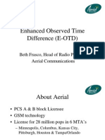 Enhanced Observed Time Difference E-OTD