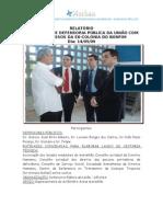 RELATÓRIO COM FOTOS_I ENCONTRO DE DEFENSORIA PÚBLICA DA UNIÃO COM OS EGRESSOS DA EX-COLONIA DO BONFIM