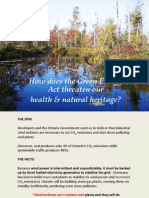 How does the Green Energy Act threaten our Natural Heritage in Ontario