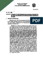 FDA Circular No. 2011 - 003