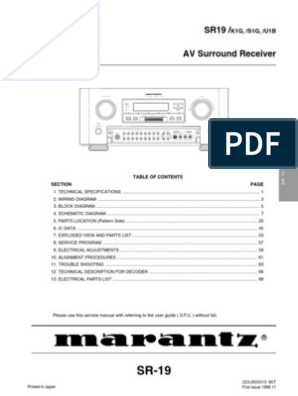 marantz 19 service manual