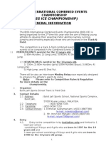 General Information-combined Events