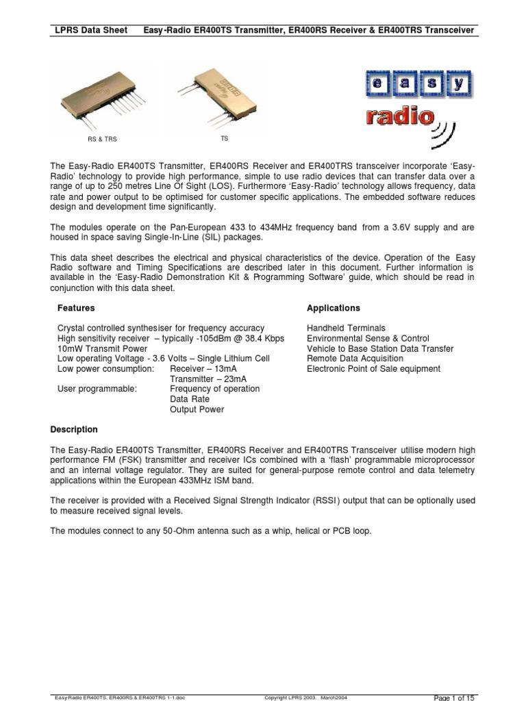 Easy Radio 433 Antenna Electrical Engineering Crystalcontrolledfm